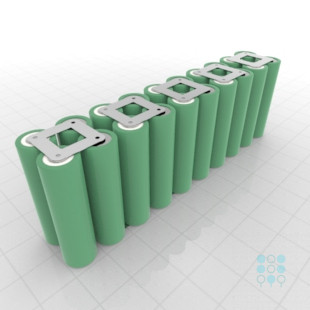 10s2p 36v li ion battery pack with samsung 25r5 cuboid iso